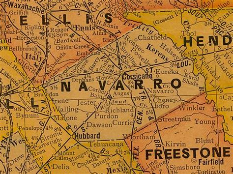 navarro county texas map images