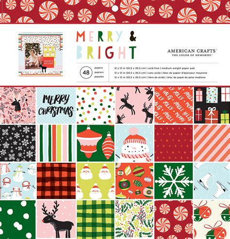 american crafts merry and bright 12 x 12 paper pad