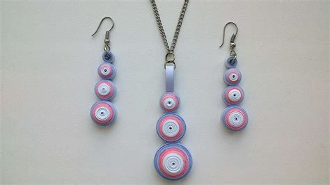 quilling tutorial earrings how to make a necklace and earrings quilling diy crafts