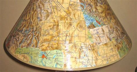 Decoupage Lshade With Fabric - decoupage lshade with flight maps crafty