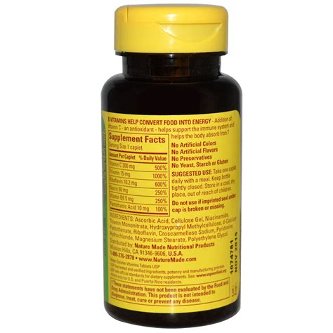 Vitamin B Complex nature made b complex with vitamin c 100 caplets iherb