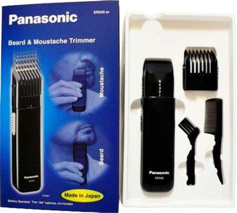 panasonic er240 beard and moustache black hair trimmer