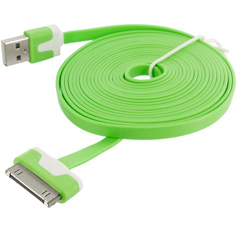 Usb Iphone 4 10 ft noodle flat usb sync data cable cord 3m for iphone 4
