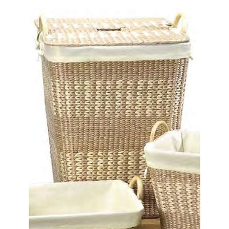 Woven Laundry Her With Lid In Clothes Hers Woven Laundry With Lid