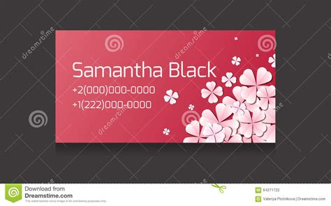 text business card templates gentle vector business card templates with paper flowers