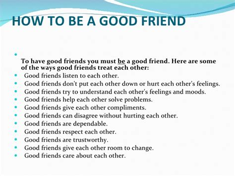 how to have great friendship