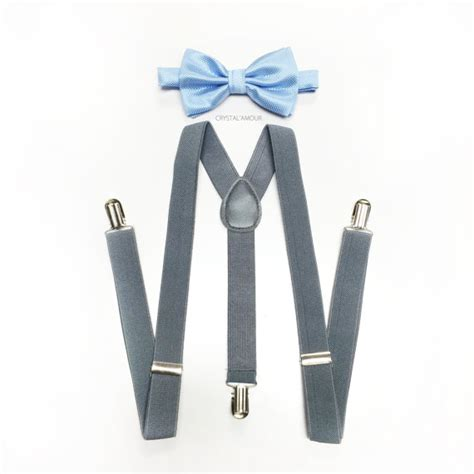 light up bow tie and suspenders light blue bow tie toddler s suspenders gray suspenders