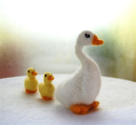 pattern for felt duck needle felted goose felted farm animals mother goose toy