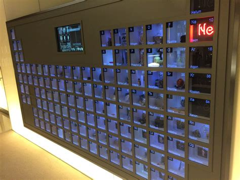 periodic table wall fact bill gates s office has a wall mounted