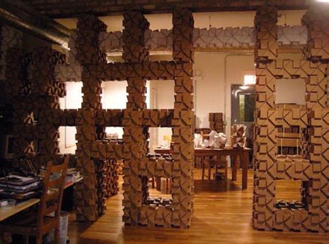 Diy Interior Design Diy Cardboard Craft Idea Cheap Modular Building Blocks