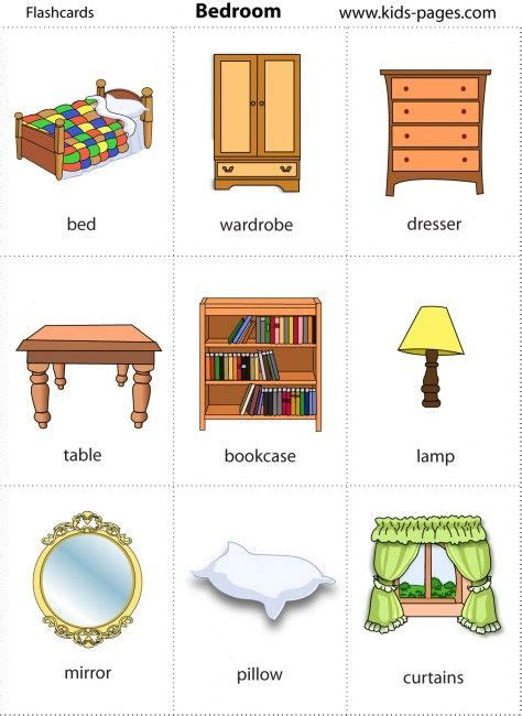 bedroom objects in spanish vocabulario de la casa y los muebles spanish vocabulary