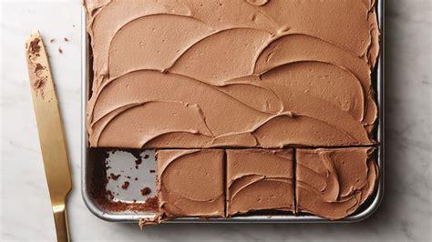 chocolate sheet cake  dark chocolate buttercream frosting recipe tablespooncom