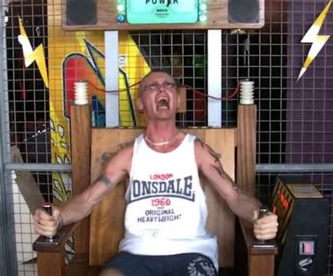 Electric Chair Arcade by He Wasn T Ready Has Hilarious Reaction Trying Out An