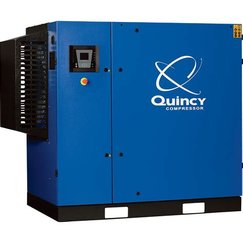free shipping quincy qgs rotary air compressor 50 hp 460 volt 3 phase 208 cfm no