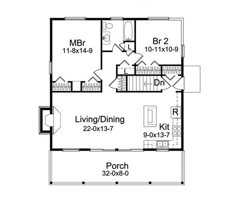 jacinto vacation cabin home plan 057d 0034 house plans
