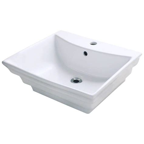 home depot white vessel sink polaris sinks porcelain vessel sink in white p061v w the