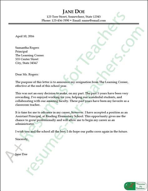 resignation letter sle and writing tips