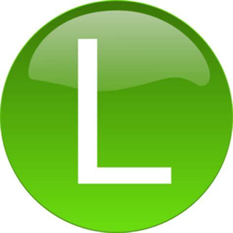 green l clip at clker vector clip