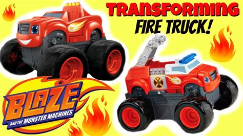 Blaze Transforming Fire Truck Blaze And The Monster Blaze Truck
