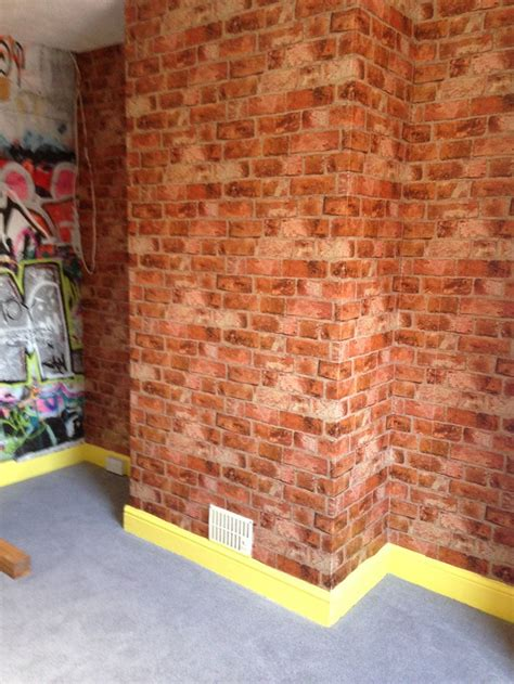 brick wallpaper bedroom boys bedroom brick wallpaper boys room ideas pinterest