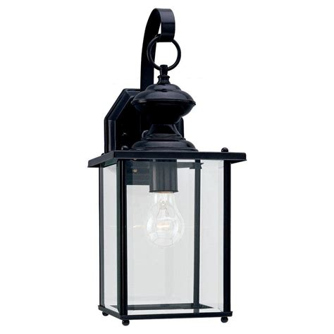 Sea Gull Lighting Fixtures Sea Gull Lighting Jamestowne 1 Light Black Outdoor Wall
