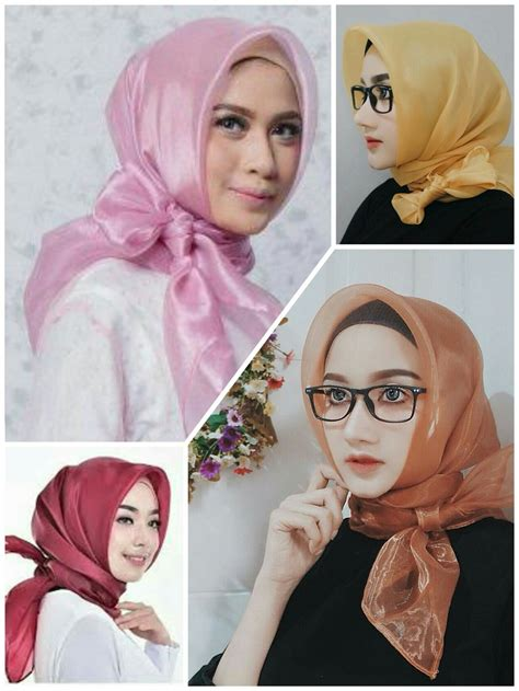 Grosir Jilbab Organza Kaca by Segi Empat Organza Organdi Harga Murah Trend