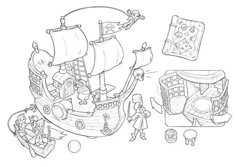 neverland map coloring page jake and the neverland pirates treasure map coloring page