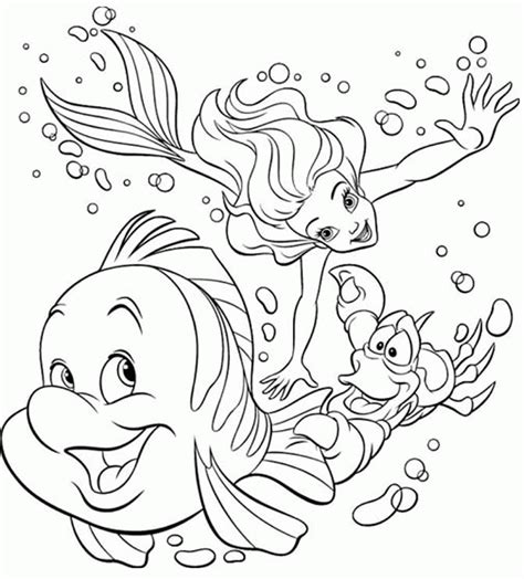 Coloring Page For Little Mermaid | little mermaid coloring pages coloringpagesabc com