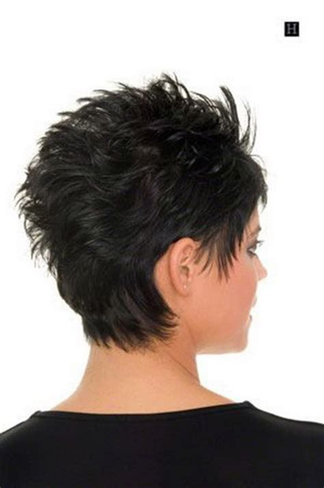 rear view of short hairstyles short haircuts front and back view