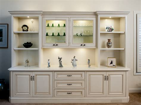Kitchen Wall Display Cabinets Painted And Glazed Display Cabinet Traditional Living Room San Francisco By Expert