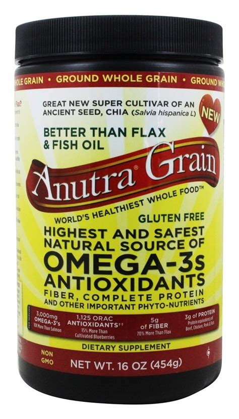 whole grains omega 3 buy anutra ground whole grain source of omega 3s