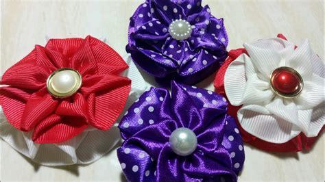 Bros Pita Mini Set 1 72 Easy Tutorial Ribbon Flower Cara Mudah Membuat Bros