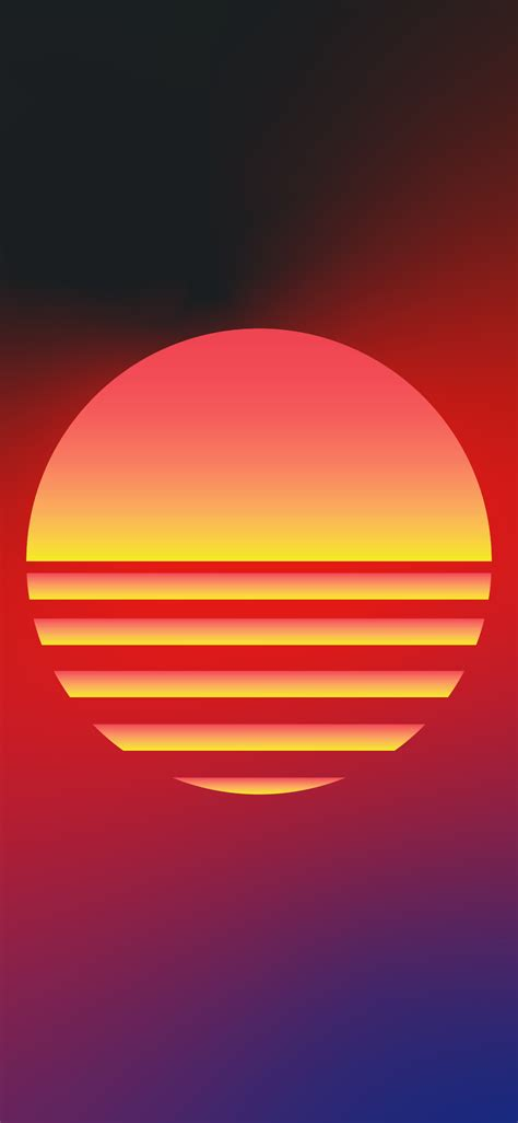 wallpaper iphone synthwave style sun wallpaperize