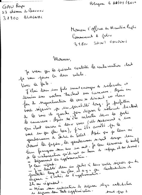 Lettre De Contestation Orange Mobile contravention
