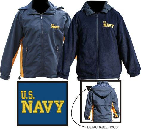 Navy Reversible Jacket us navy reversible fleece jacket new items