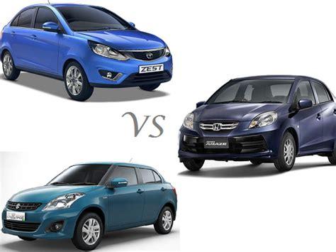 Maruti Suzuki Amaze Price Comparison Tata Zest Vs Honda Amaze Vs Maruti Dzire