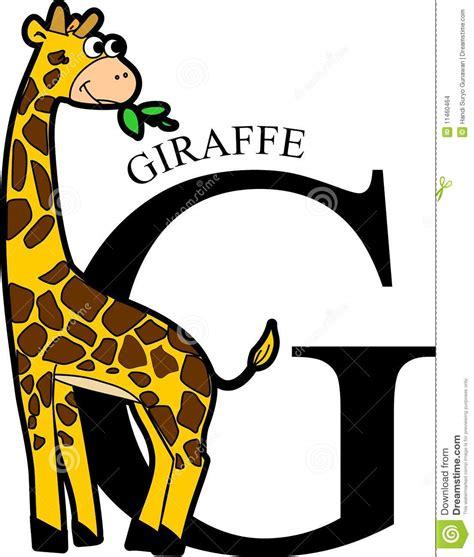 imagenes de jirafas en ingles jirafa animal del alfabeto imagenes de archivo imagen