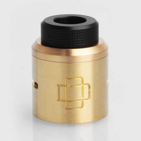 Cap Druga 24mm Authentic Atomizer Top Cap Rda Vapor Vape authentic augvape druga rda brass top cap kit w drip tip