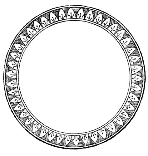 Vintage Clip Art French Label Anchor Round Frame | vintage clip art french label anchor round frame the