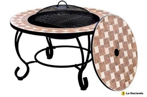 feuerschale tisch feuerschale mit mosaik grill und tisch
