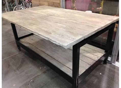 Reclaimed Wood and Metal Kitchen Island ? Heirlooms and