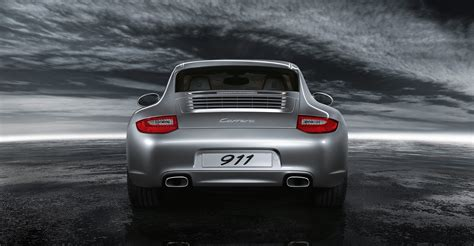porsche 911 back 2011 silver porsche 911 carrera wallpapers