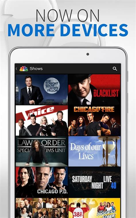 nbc tv app for android nbc updates android app with live for tv subscribers in select markets