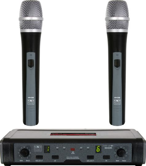 Mic Wireless Clip On 4 Channel M114 Original Multy Channel galaxy ecdr hh38l wireless microphone system reverb