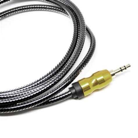 Kabel Aux 3 5mm 1 Meter kabel audio aux 3 5mm gold plated hifi 1 meter black