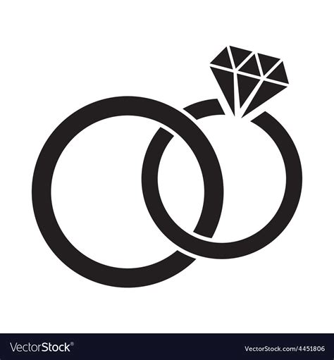 wedding ring in vector wedding rings royalty free vector image vectorstock
