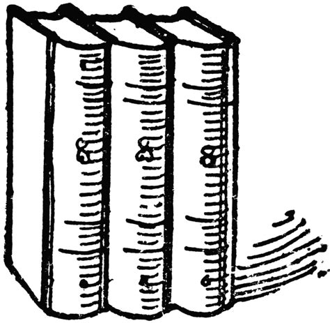 Uws Library Unit Outlines by Three Books Clipart Etc