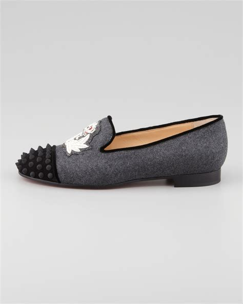 wag loafers christian louboutin intern spiked velvet loafers