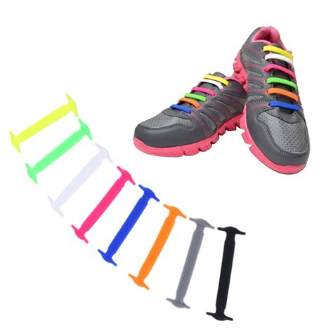 elastic shoe laces 1 set 16pcs new novelty no tie shoelaces elastic silicone