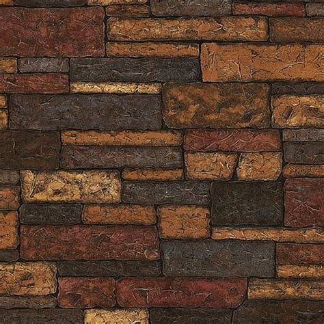 Zc Wallpaper Sticker Brown Brick Texture brick wallpaper faux and textured brick patterned